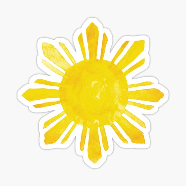 Filipino Sun in Watercolor Sticker