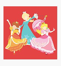 Super Mario Princesses Blocky Photographic Print