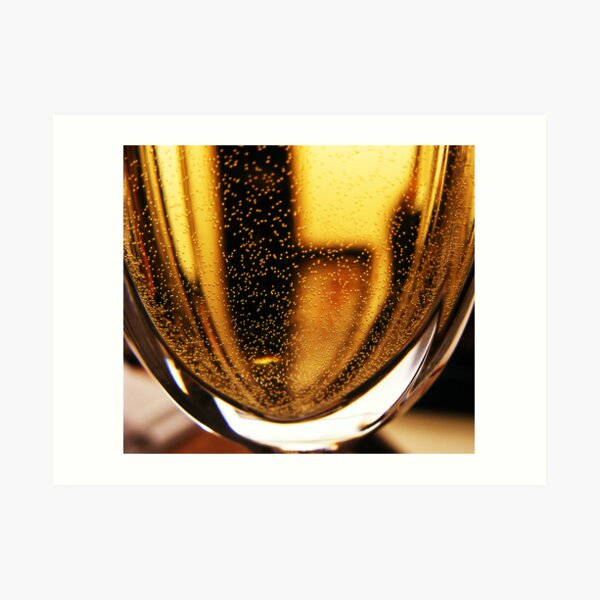 bubbly black and gold Art Print