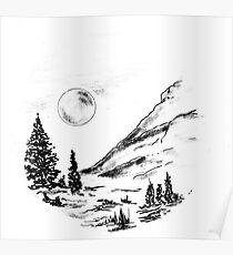 Sketch 81 - Ink Landscape Poster