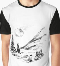 Sketch 81 - Ink Landscape Graphic T-Shirt