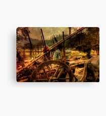 Ox truck Canvas Print