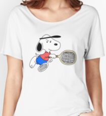 Arcade Classic - Snoopy Tennis Women's Relaxed Fit T-Shirt