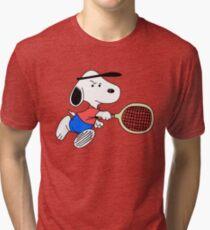 Arcade Classic - Snoopy Tennis Tri-blend T-Shirt