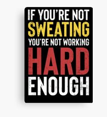 Workout Fitness Gym Inspirational Gift Canvas Print