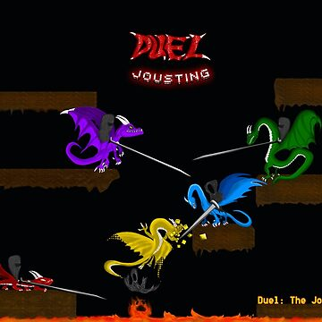 Duel Jousting Game Poster #1 by shadowinkdesign
