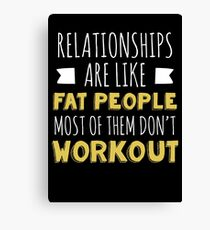 Workout Fitness Gym Relationship Gift Canvas Print