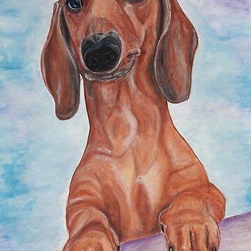 Max1 dachshund by GalinaM