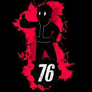 Fallout 76 Vaultboy Dark Fandesign by MienWayne