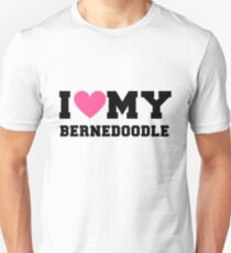 I Love My Bernedoodle Dog Breeds Gift Unisex T-Shirt