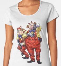 Tweedledum and Tweedledee - Arkham Asylum Character Bio Women's Premium T-Shirt