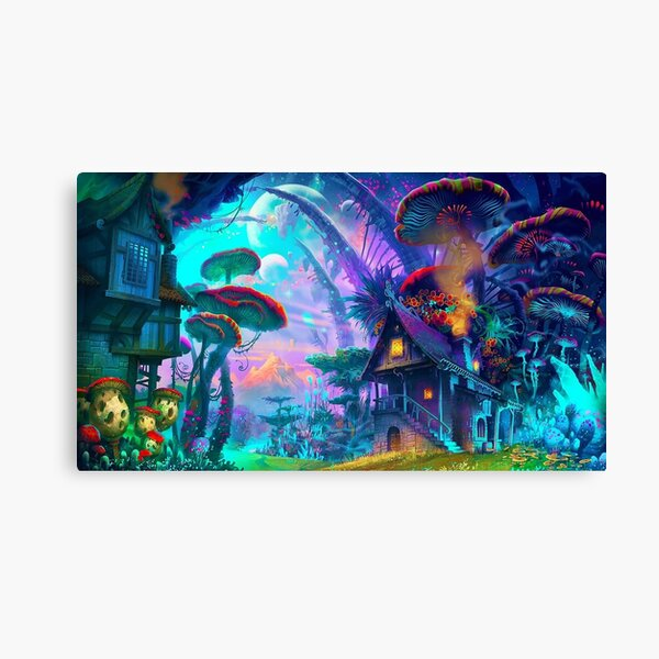 Psychedelic (Blue) Canvas Print