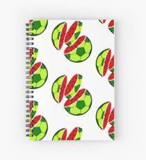 Funny Water-Melon Soccer Football Summer T-Shirt Spiral Notebook