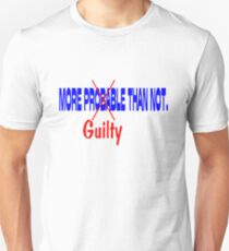 Deflategate More Probable (Guilty) Than Not.  Unisex T-Shirt