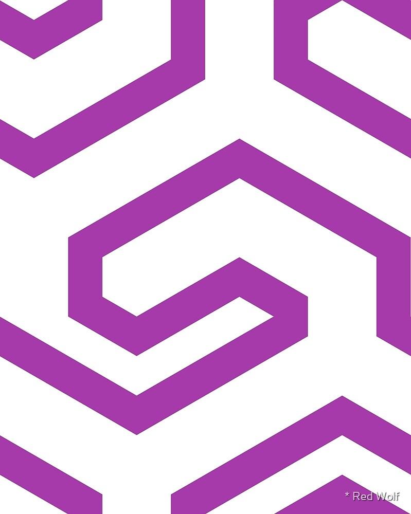 Geometric Pattern: Key Hook: Purple by * Red Wolf