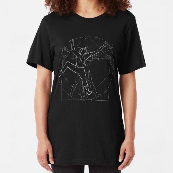 Free Climber Vitruvian Man Slim Fit T-Shirt