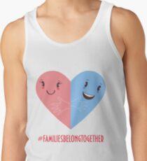 Families belong together. Stop separating families. Men's Tank Top