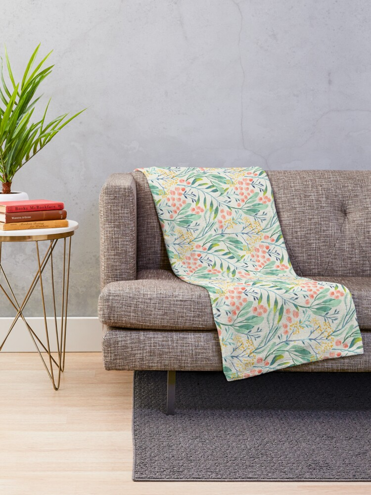 Alternate view of Botanical Garden Throw Blanket