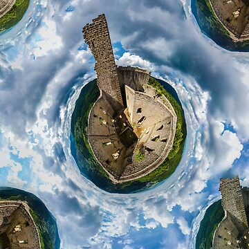 Little planet view of castle Spesbourg in Alsace, France. by sorokopud