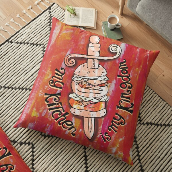 hamburger king Floor Pillow