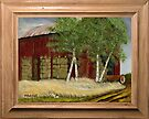 OLD MAN WALKER'S BARN, ACRYLIC PAINTING, DISPLAYED WITH SYNTHETIC FRAME by Bob Hall©