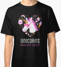 Einhorn Nacht Party Classic T-Shirt