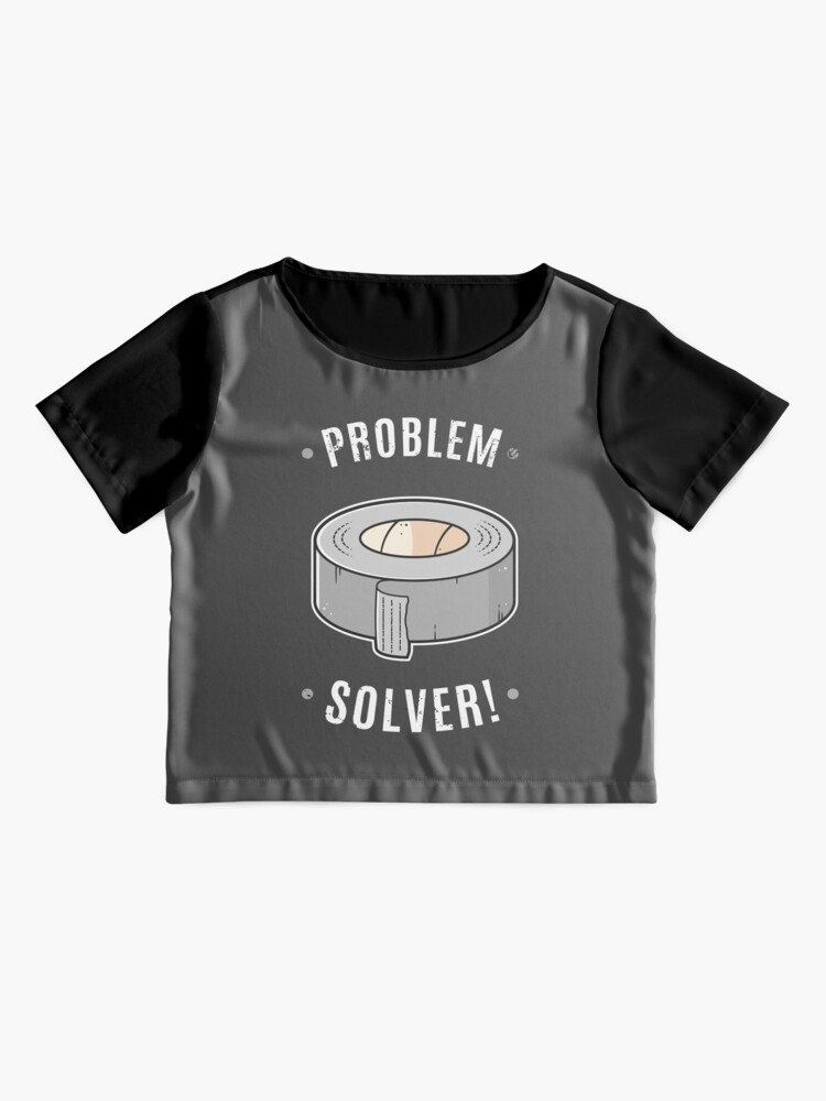 Alternate view of Duct Tape - Problem Solver Chiffon Top
