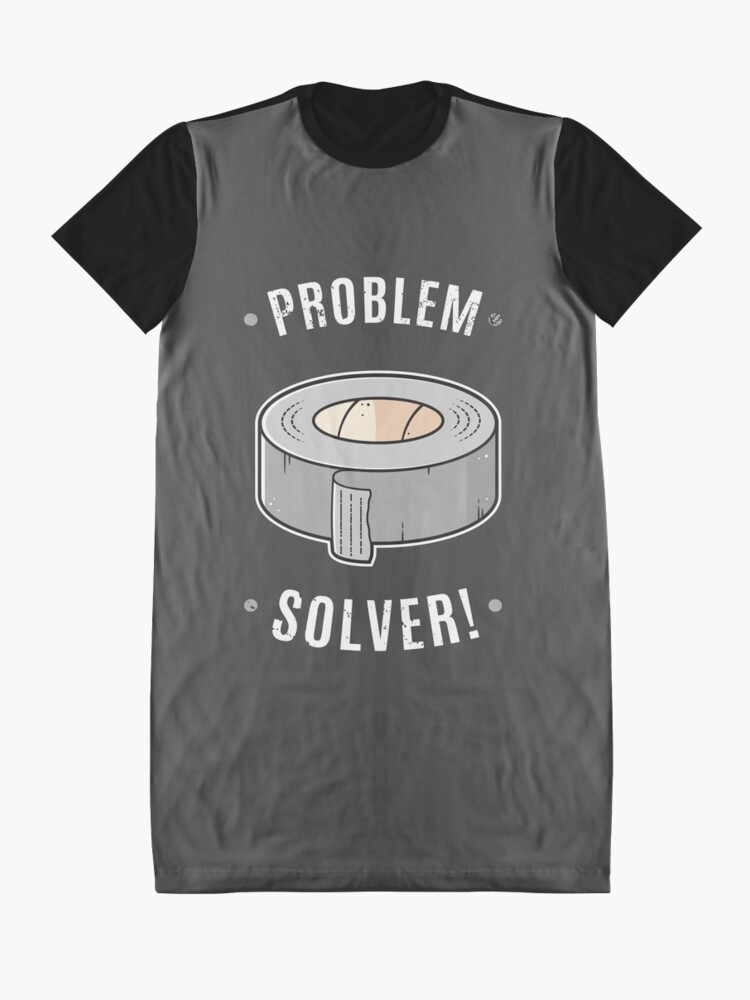 Alternate view of Duct Tape - Problem Solver Graphic T-Shirt Dress