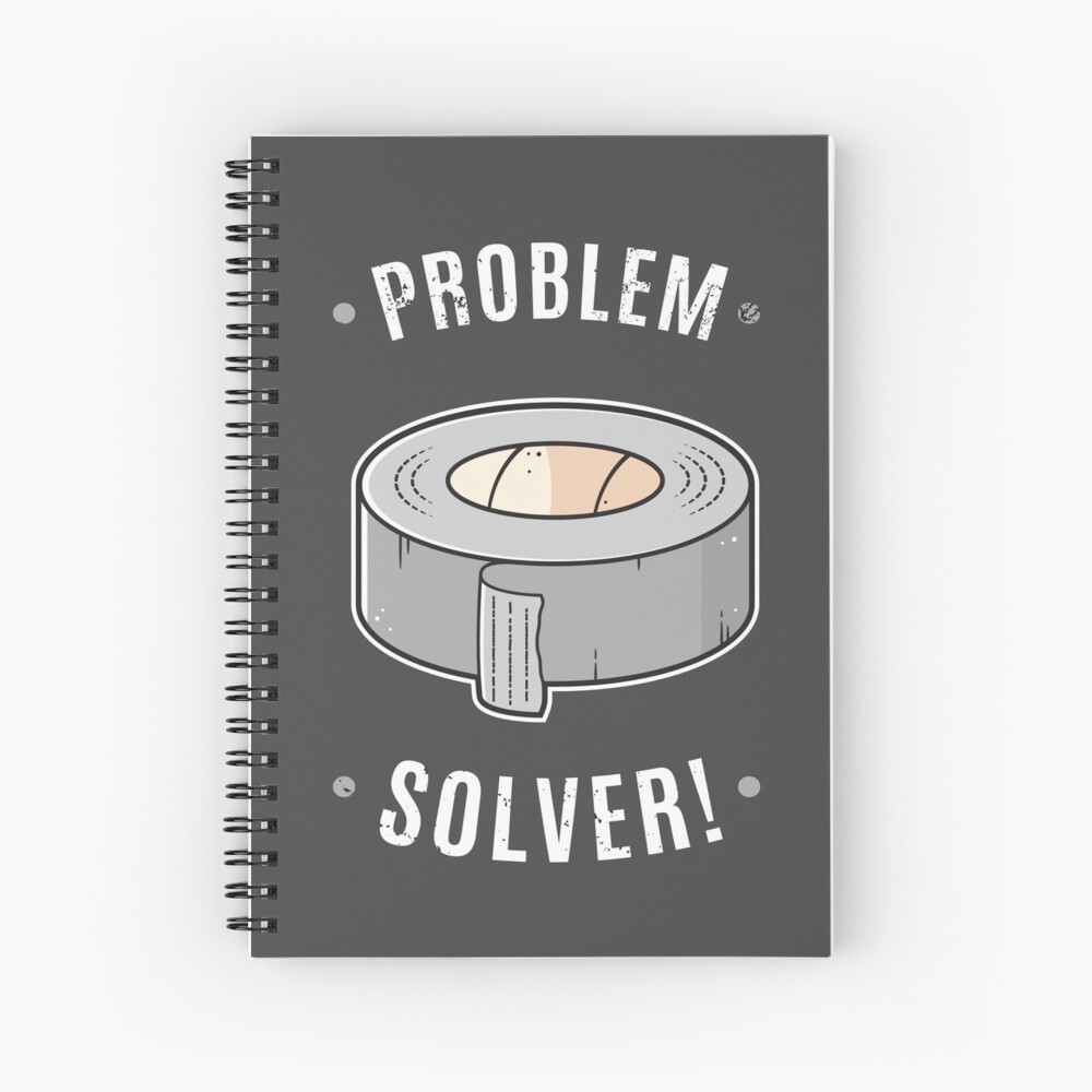 Duct Tape - Problem Solver Spiral Notebook
