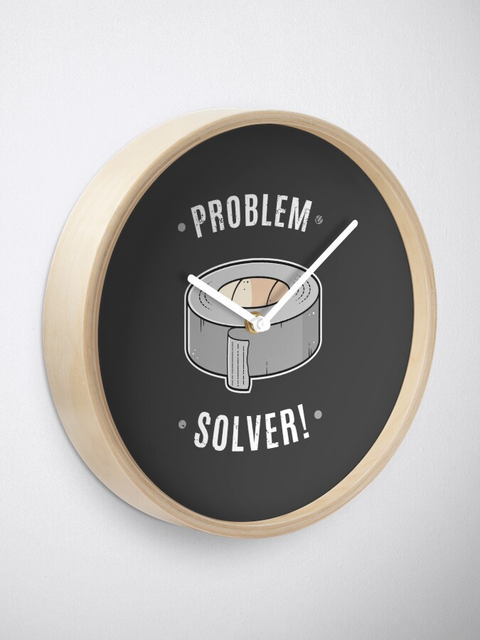 Alternate view of Duct Tape - Problem Solver Clock