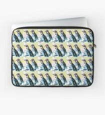 Painterly penguin repeat pattern  Laptop Sleeve