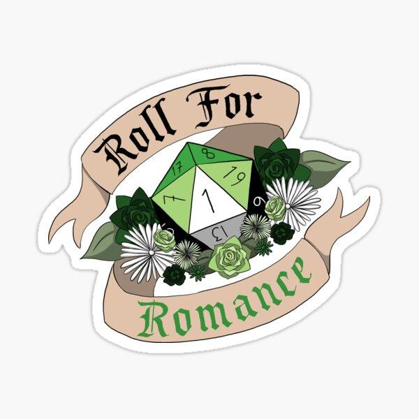 Roll For Romance - Aromantic Pride [Crit Fail] Sticker