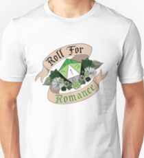 Roll For Romance - Aromantic Pride [Crit Fail] Unisex T-Shirt