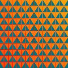 fiery triangle pattern in teal orange and red  by VrijFormaat