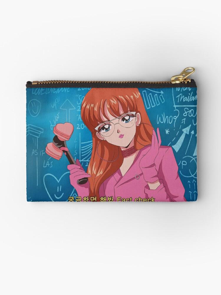 Blackpink Lisa Ddu Du Ddu Du 90 S Anime Studio Pouches By