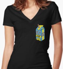 GLO GANG Women's Fitted V-Neck T-Shirt