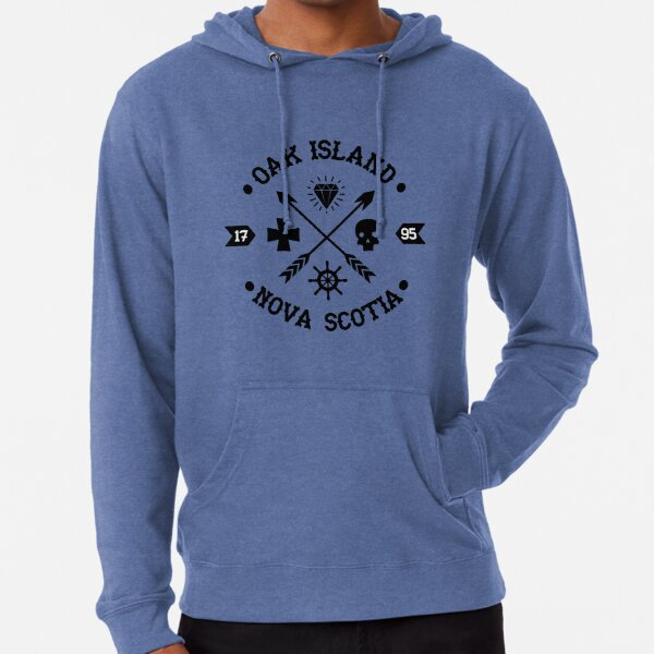 Oak Island Nova Scotia Arrows and Skulls | Mystery Treasure Hunter Gift - History & Artifacts Lover Lightweight Hoodie