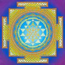 Sri Yantra painting on canvas by Anastasia Helten