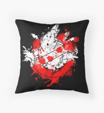Ghostbusters Logo Paint Splatter Throw Pillow