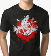Ghostbusters Logo Paint Splatter Tri-blend T-Shirt