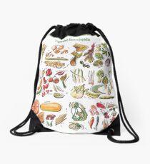 Vegetable Encyclopedia Drawstring Bag
