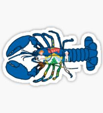 Maine Lobster w/ State Flag Sticker