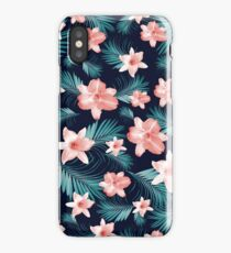 Tropical Flowers Palm Leaves Finesse #1 #tropical #decor #art  iPhone Case