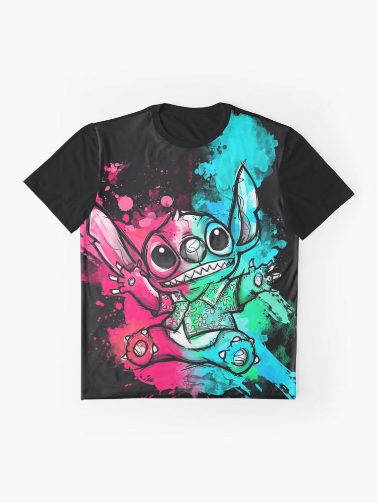 Vista alternativa de Camiseta gráfica Cuteless Rainbow Stitch - OHANA