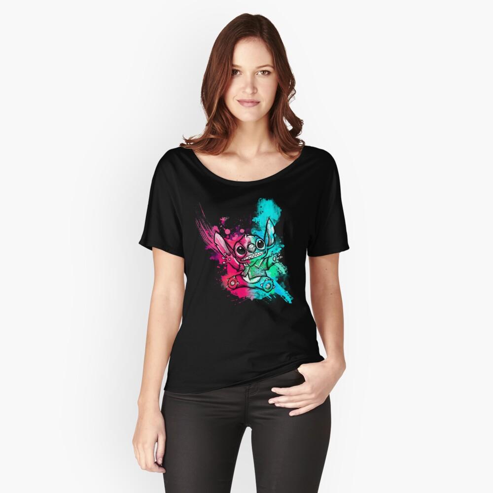 Cuteless Rainbow Stitch - OHANA Camiseta ancha