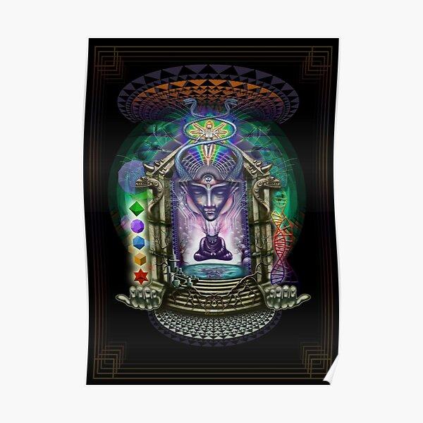 Alien alchemist burner's psychedelic dream temple Poster