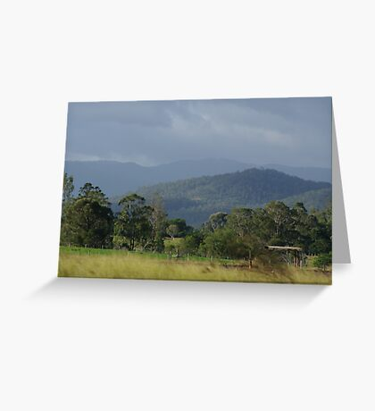 Aussie country Greeting Card