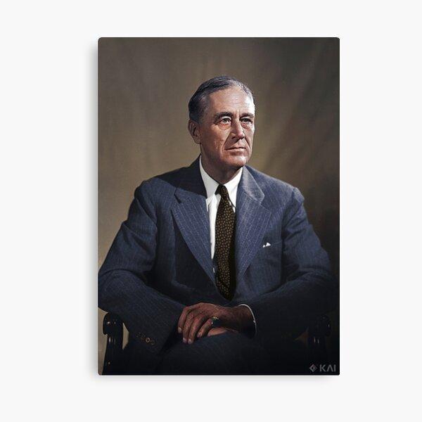 Franklin D. Roosevelt, 1944 colorized Canvas Print