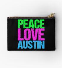 Peace Love Austin Zipper Pouch