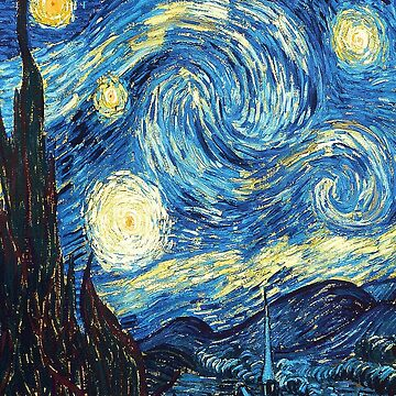The Starry Night Classic Painting by Maherblast